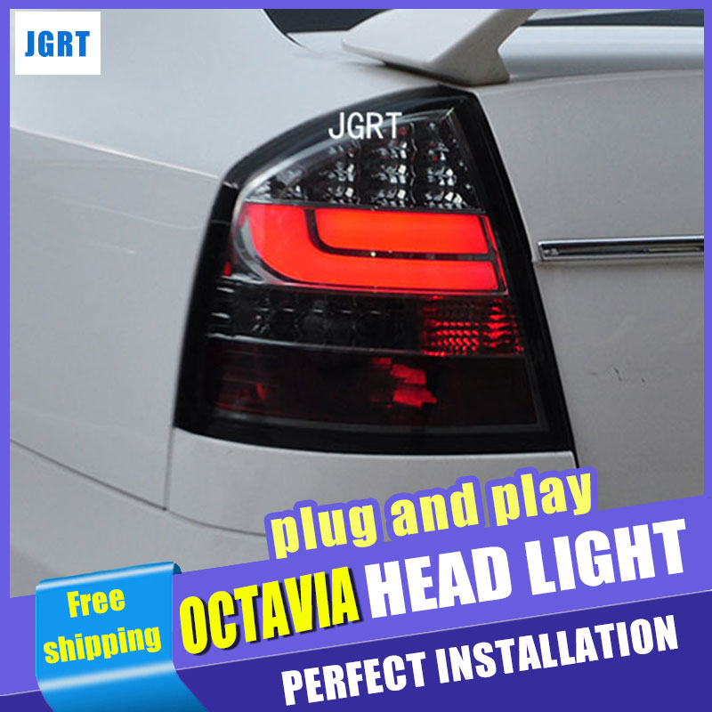 car styling For Skoda octavia taillight assembly 2007 2012 for octavia rear lights dedicate light led taillight light with 2pcs