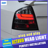 car styling For Skoda octavia taillight assembly 2007 2012 for octavia rear lights dedicate light led taillight light with 2pcs