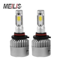 Meilistar S2 72W 9005 HB3 COB LED Headlight Bulbs Conversion Kit 8000LM 6500K Single Beam All