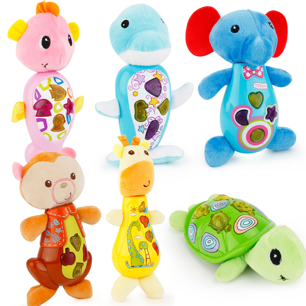 2017 Cute Animal Shapes Music Sound Baby Sleeping Somfort Toys Calm Doll Dropship Y718