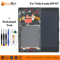 For Nokia Lumia 830 N830 RM 984 Touch Screen Digitizer Sensor Glass Panel + LCD Display Monitor Panel Module Assembly + Frame