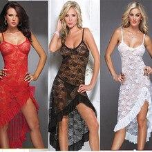 Sexy Lace Exotic Lingerie For Women Sleepwear Dress Combination Female Lingerie Long Nightdress Sexy Underwear Lenceria SLG205
