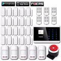 GSM IOS Android APP Touch Screen Keypad+LCD display 99 Wireless Zone GSM PSTN Home Security Russian French Voice Alarm System