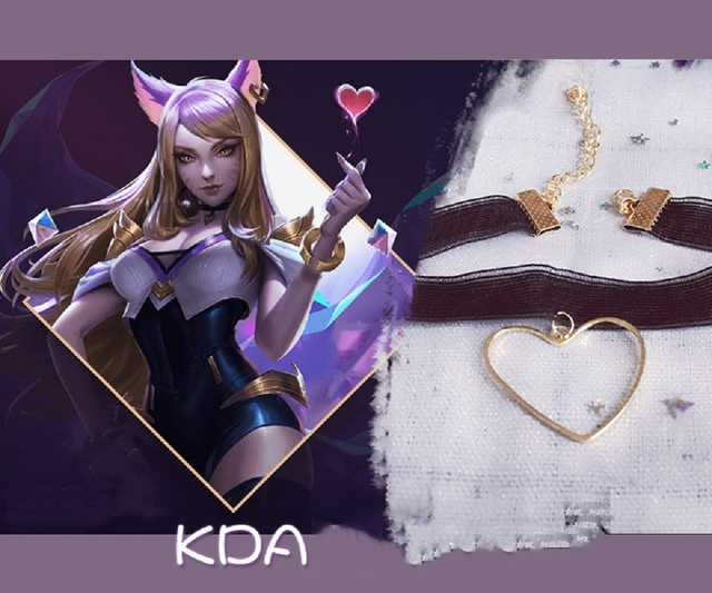 Hot Game LOL KDA Group Cosplay Ali Necklace Akali Necklace Fashion Accessories Jewelry For Women Sell Well  Popular  Ornaments