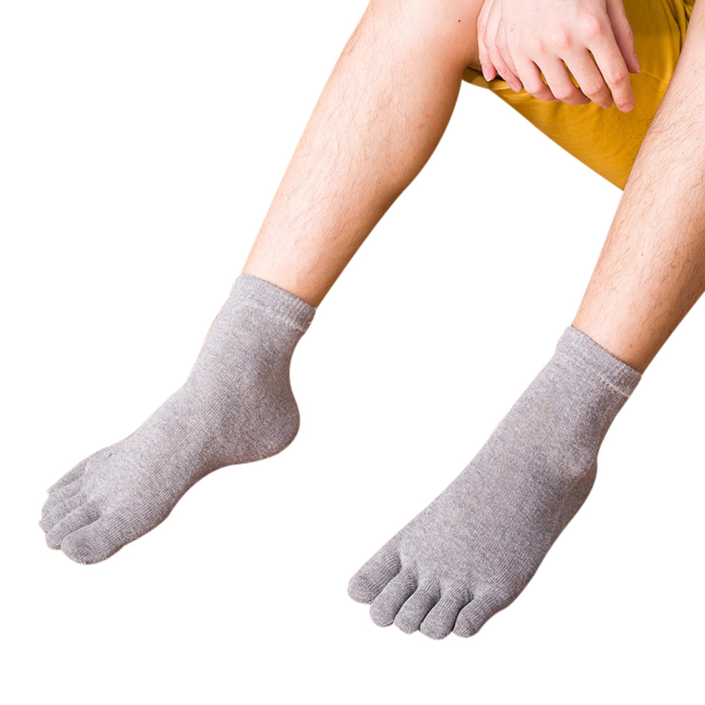 Fashion Mens Five Toe Cotton Socks Pure Trainer Finger Socks Breathable Y787