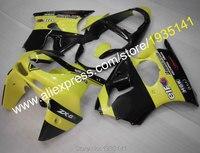 Hot Sales,New Arrival fairing For Kawasaki yellow black ZX-6R Ninja ZX6R 98 99 Motorcycle fittings ZX 6R 636 1998 1999 ZX-636