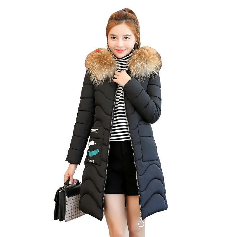 2018 New Winter Jacket Female Parka Coat Feminina Long Print Down Jacket Plus Size Long Hooded Duck Down Coat Jacket Women NW740
