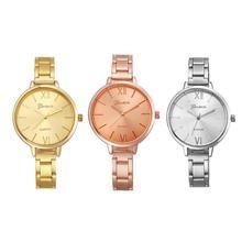 Geneva Luxury Women Stainless Steel Band Analog Quartz Wrist Watch Wateches EC