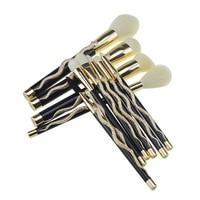 10Pcs Professional Makeup Brushes Set Eye Shadow Eyebrow Lip Foundation Make Up Brush Kit Tools HS11