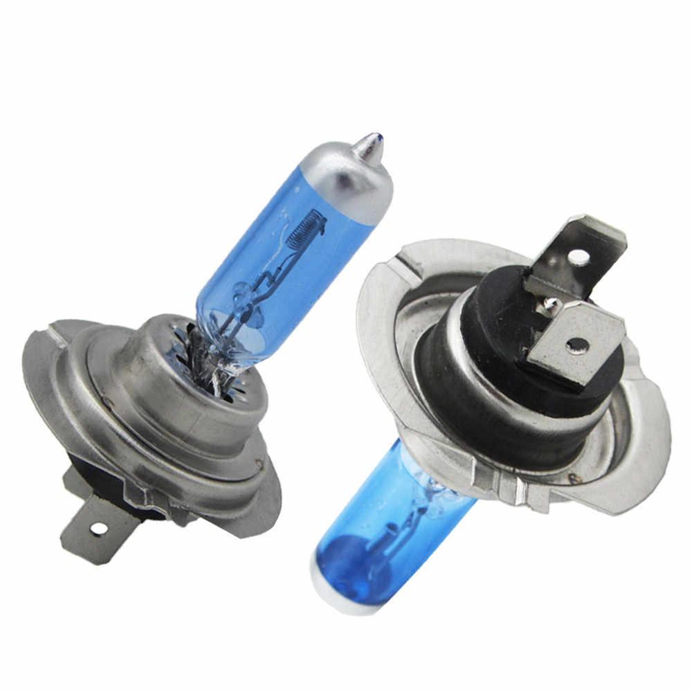 2Pcs car highlight halogen bulb far and near light accessory modification kit H3 55W 12V 6000K high power 19Mar22
