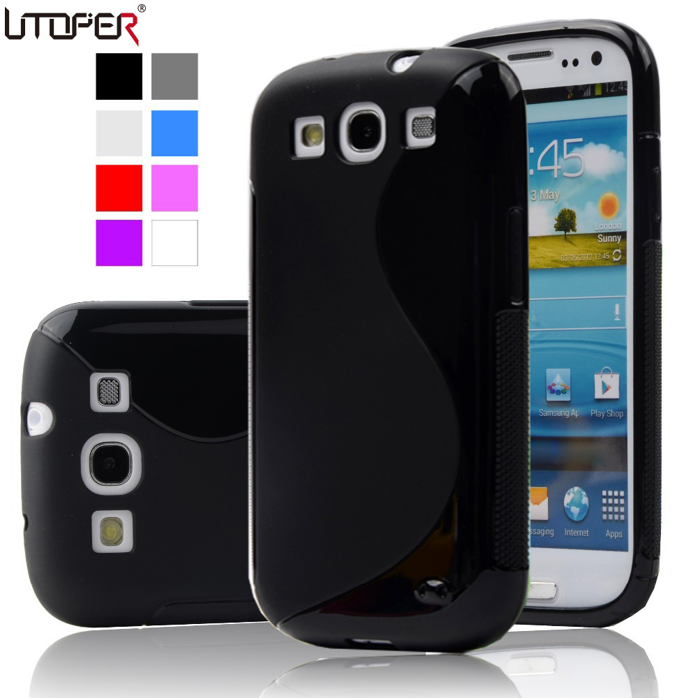 For Samsung S3 Case S-LINE Slim Soft Coque for Samsung Galaxy S3 Case I9300 Neo i9301 Duos i9300i Back Cover Anti-Skid silicone