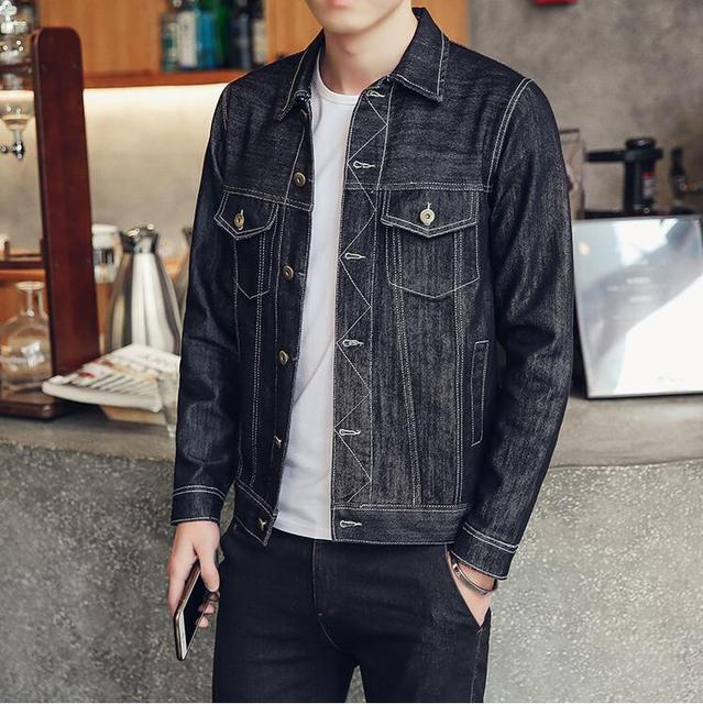 c2d0842560ab New 2018 Streetwear Men Hip Hop Retro Denim Jacket motorcycle men Kanye casual  Jeans Jacket high