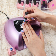 MelodySusie 24W Auto Sensor LED UV Lamp for Nail Gel Polish Manicure white Light 365-405nm Nail Dryer with Auto Timer Setting