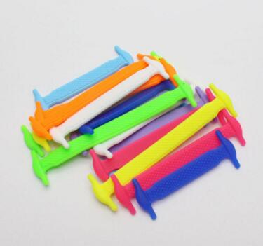 New Shoelace Tie Free Lazy Casual Fashion Color Silicone Elastic Sports Shoes Full Shoe lace