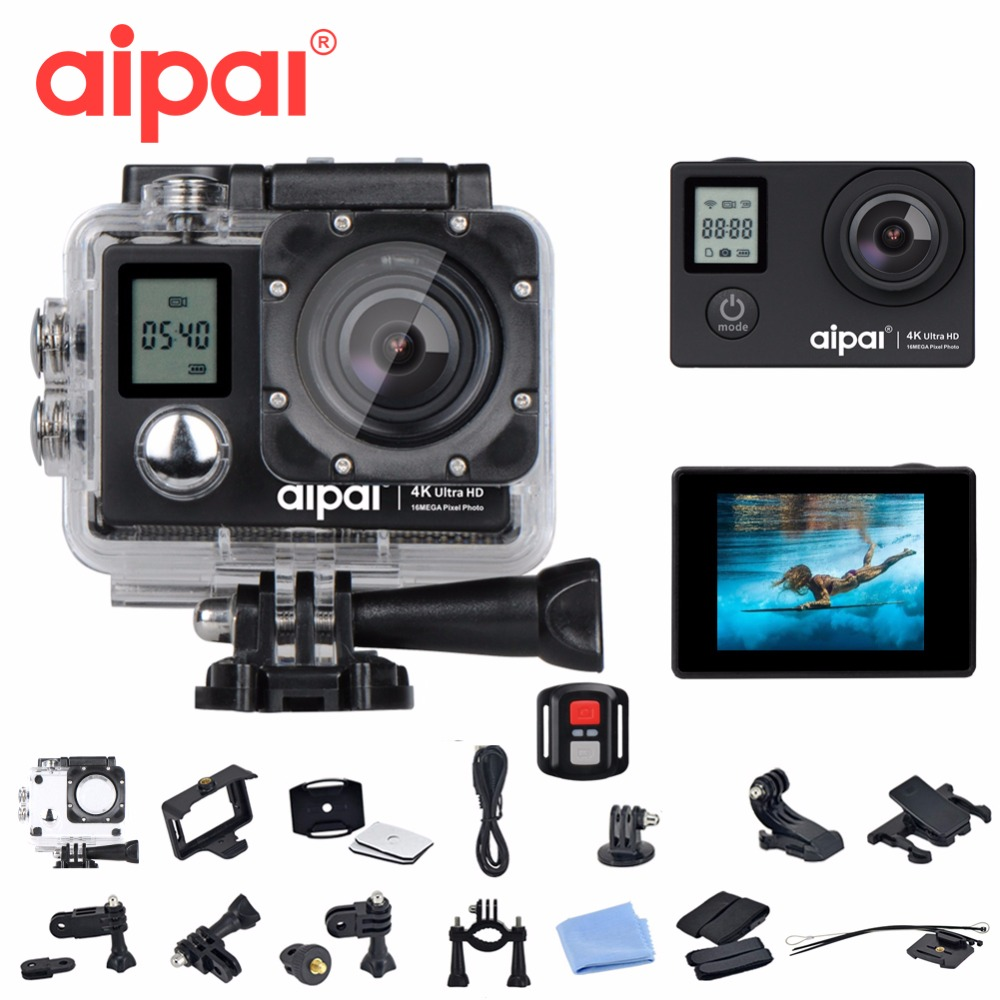 Aipal A1 Action Camera Wifi FULL HD 4K 30fps 1080p 60fps Double Screen Sport Camera 16MP