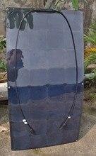 Solarparts 1 ШТ. 100 Вт 12 В Черный Гибкие Солнечные Панели солнечный модуль моно солнечных батарей для RV/яхты/лодки/автомобилей для кемпинга/открытый зарядное устройство