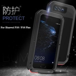 Image 3 - Love Mei Métal étui pour Huawei P10 P10 Plus Antichoc Couverture de Téléphone Pour Huawei P10 Plus Robuste Corps Entier Anti Chute Étui Darmure