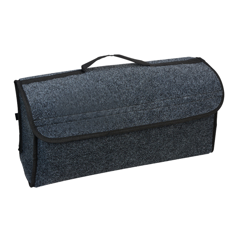 1pc Grey Durable Car Trunk Organizer Trunk Container Storage Bag Case Smart Tool Bag Car interior