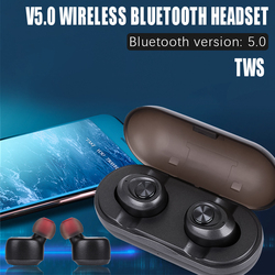 Waterproof Wireless Bluetooth 5.0 Earphones Noise Reduction Portable for Smartphone wireless bluetooth headset