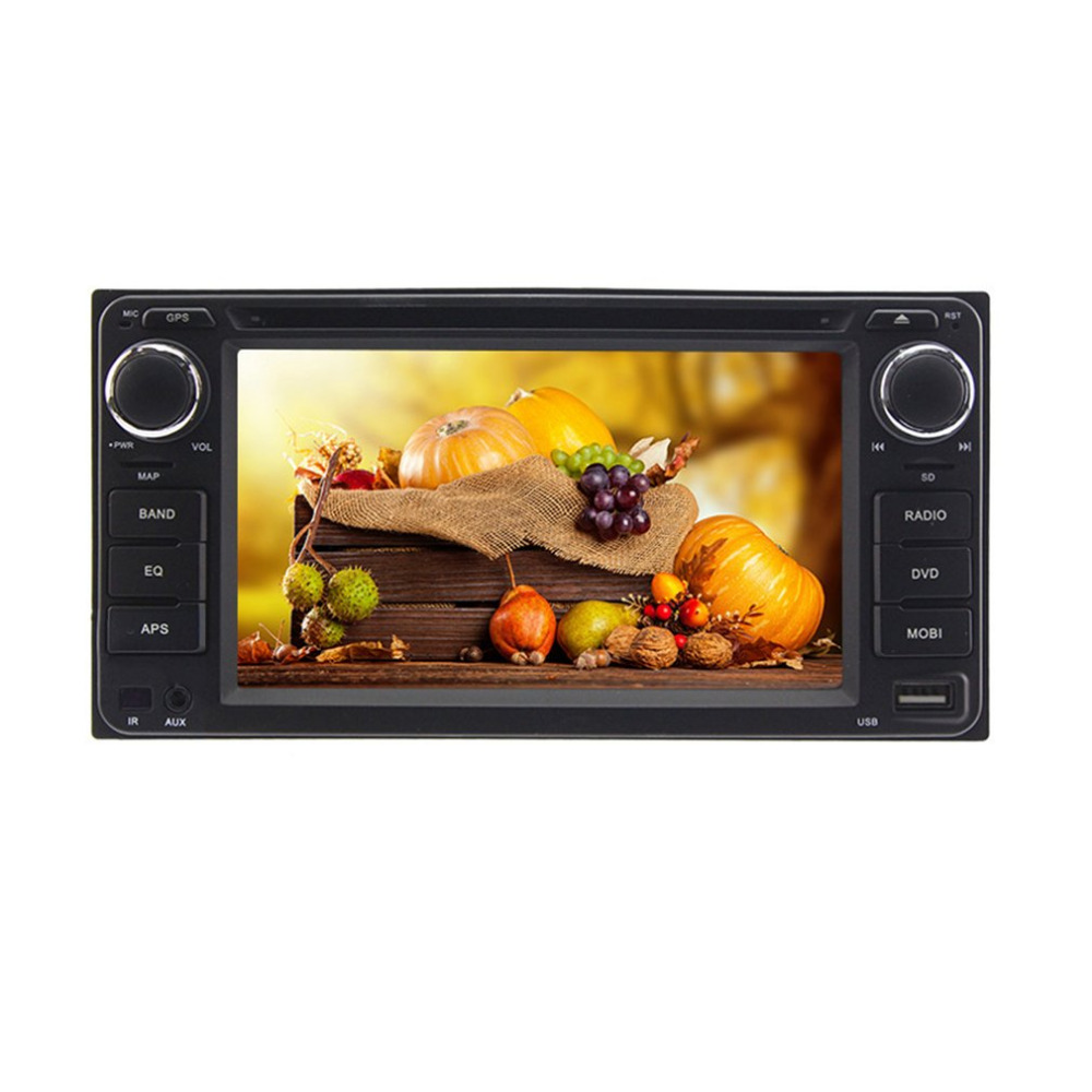 6,2 дюймов Универсальный двойной Din в тире цифровых медиа DVD автомобиля Дисплей 7 цветов и пуговицы светодиодный свет настройки для Toyota