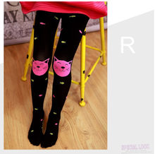 Kids Girls Colored Tights Velvet Candy Colors Cute Cat Fish Tights for Baby Children Pantyhose Stocking Autumn(China)
