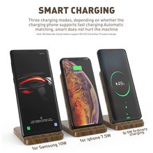 KEYSION 10W Wooden Qi Wireless Charger for all Phones