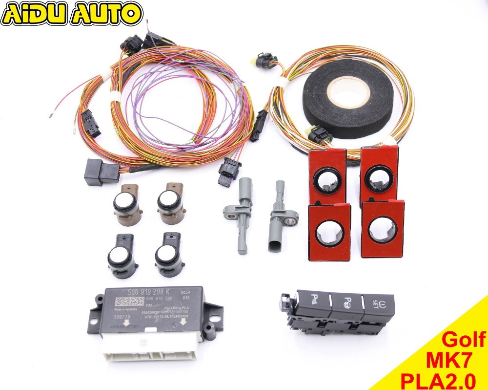 FOR VW Golf 7 MK7 VII Intelligent auto Parking Assist Park Assist PLA 2.0 UPGRADE 5Q0 919 298 K use fit for golf 6 jetta mk6 auto intelligent parking assist 12k park assist pla 2 0 upgrade ops install harness wire