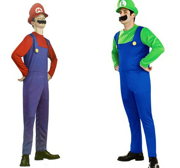 Funy Cosplay Kostum Super Mario Luigi Brothers Fancy Dress Up Pesta - Kostum - Foto 2