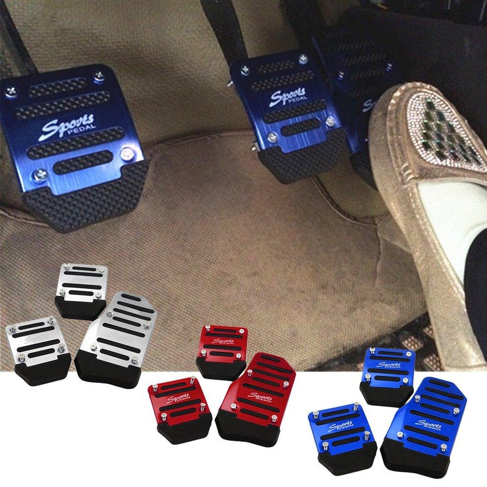 3 шт., автомобильная Нескользящая накладка из сплава, алюминиевая Накладка для ног, защита от усталости ног, безопасная для вождения