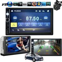 7 Inch Touch Screen Car Radio 2 DIN MP5 Player USB AUX FM With Parking Camera