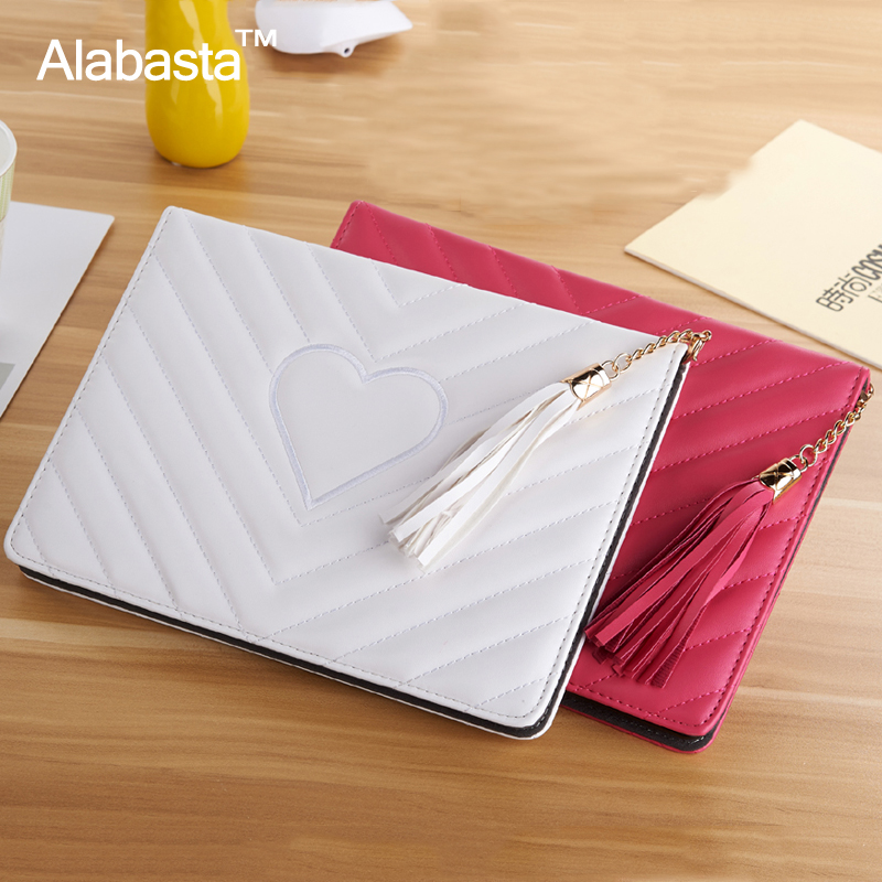 Alabasta for Apple iPad mini 4 Case Coque PU Leather Skin Rhinestone Bag Protector Cover Luxury Grid Tassels Stand Cover stylus for apple ipad pro 9 7 cases alabasta