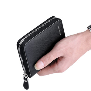 Image 2 - WILLIAMPOLO Fashion  100% Leather Zipper Small Wallet Portefeuille Homme Mini Wallet PL171320
