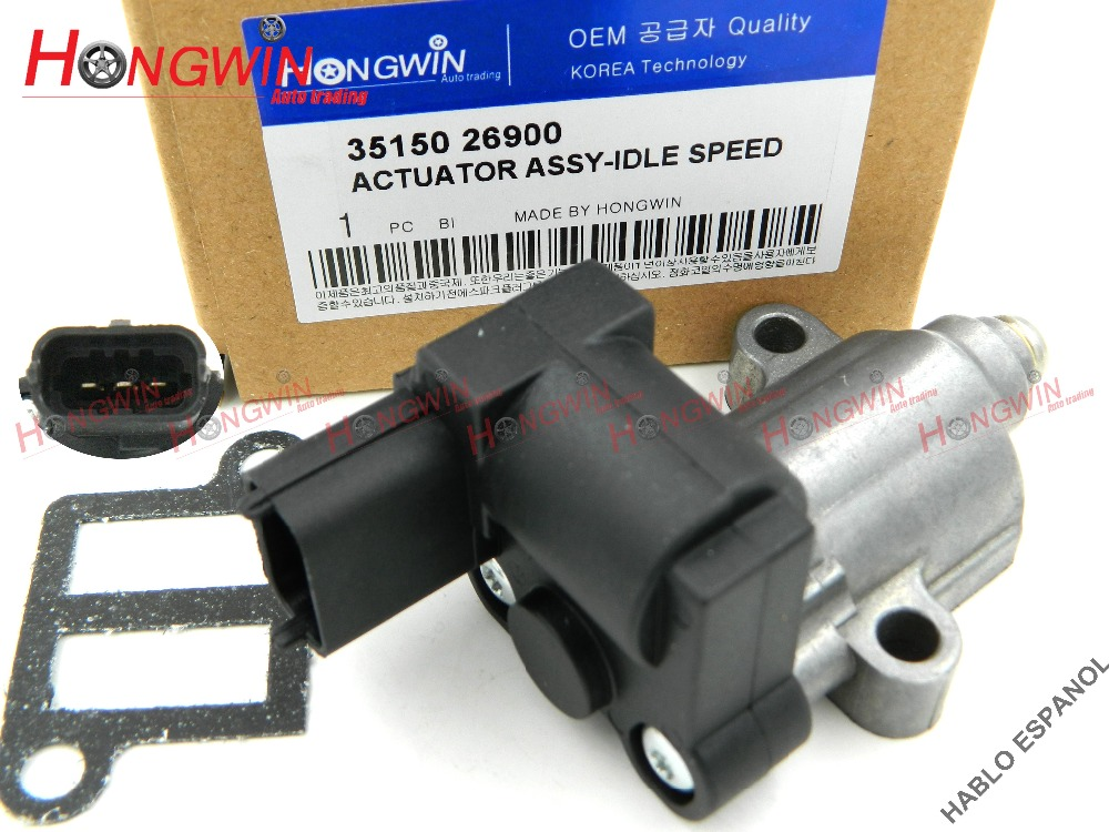 Genuine No.35150 26900 Idle Air Control Valve Fits Hyundai Getz Click 1.3L 1.4L 1.6LGas Rio Accent  05-11  3515026900
