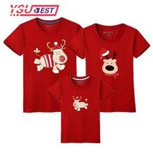 2019 Navidad familia juego ropa de madre hija camiseta hijo trajes de manga corta Camiseta familia padre ropa de bebé