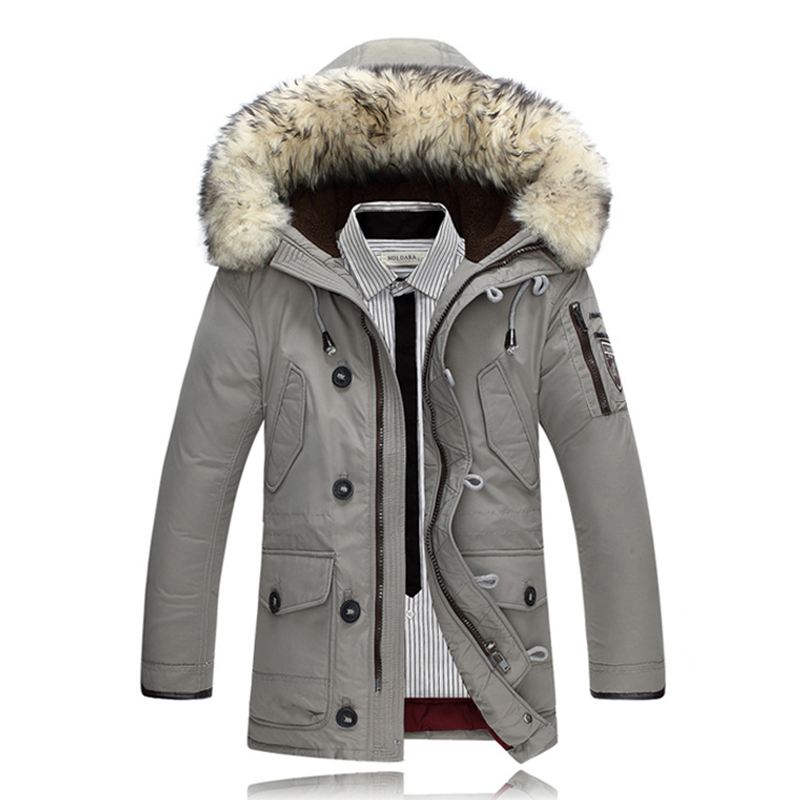 2017 Männer Ente Daunenjacke Winter Jacken Parkas Mens Unten Jacke Kaninchenfell Parka Jacke Feminina Marke Kleidung Mantel Für Mann GläNzende OberfläChe