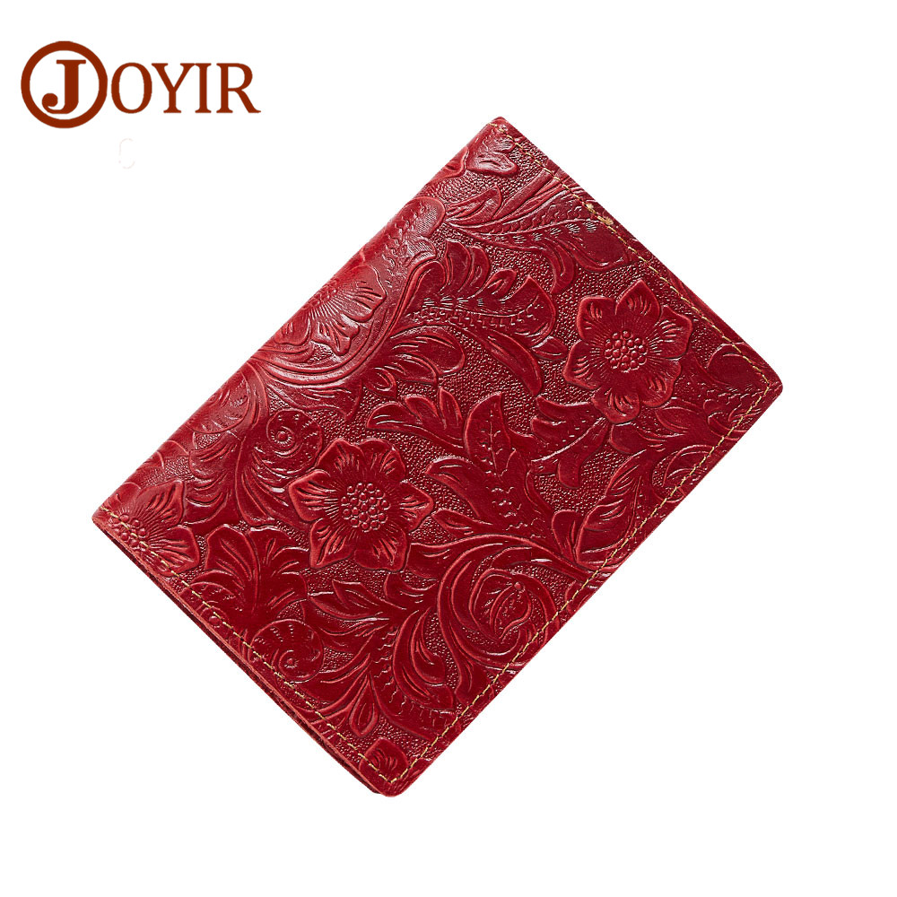 JOYIR Genuine Leather Credit Card ID Holder 2018 Fashion Passport Holder Travel Wallet Card Wallet Casual Business Card Holder