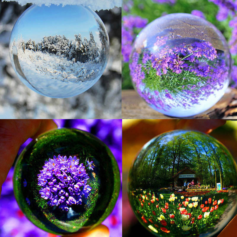 70/90/100mm Ultra Clear Acrylic Crystal Ball Contact Juggling Magic Tricks for Magician illusion Toy Accessories