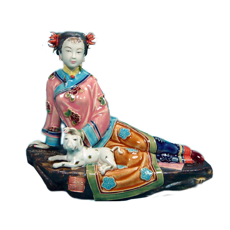 Antique Statue of Chinese Lady Figure Collectibles Porcelain Crafts Figurine as Christmas Gifts Vintage Home Decor SculptureAntique Statue of Chinese Lady Figure Collectibles Porcelain Crafts Figurine as Christmas Gifts Vintage Home Decor Sculpture