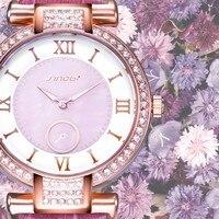 SINOBI Fashion Womens Watches For Top Luxury Brand Leather Belt Ladies Golden Quartz Clock Dress Wristwatches