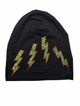 B-17816 мода 100% хлопок Хорошие Молнии кристалл шапочки цветов кристаллов hat сплошной черный шапочка дизайн пользовательского