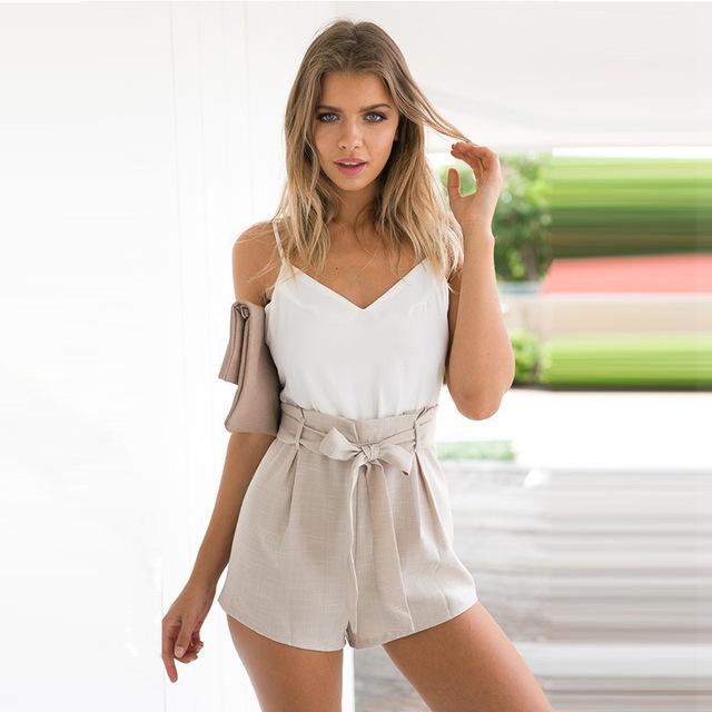 YEMUSEED Verão 2017 branco elegante jumpsuit Mulheres romper bow one piece playsuit casual Sexy backless curto macacão meninas