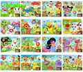 HAPPYXUAN 20pcs/lot 21*27cm Classic Cartoon Figures 3d adhesive eva foam sticker puzzle Kids DIY handmade Toy for Children