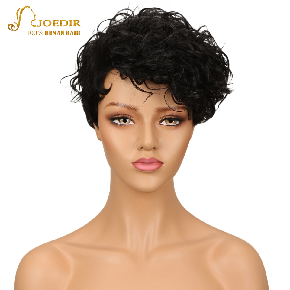 Joedir Hair Wigs For Black Women Brazilian Wet And Wavy Wig 100% Human Hair Wigs Short Bob Curly Wigs 10 Color Free Shipping