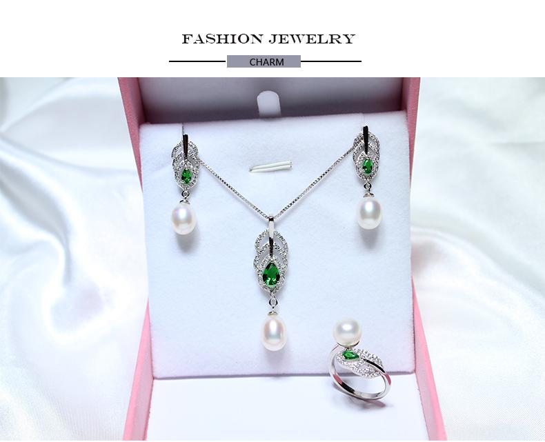 Yikalaisi 2017 100% натуральный пресноводный жемчуг 8-9 мм жемчужина стерлингового серебра 925 кольцо Стад Серьги Подвеска для для женщин