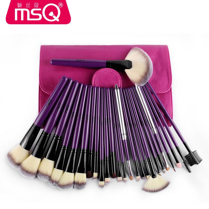 где купить MSQ 24 pcs brand Makeup Brushes Professional Cosmetic Brush set High Quality Makeup Set With animal bristle make up brushes по лучшей цене