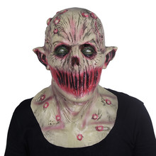 Halloween Zombie Mask Props Scary Ghost Hedging Zombie Mask Realistic Masquerade Halloween Mask Long Hair Ghost Horror Mask