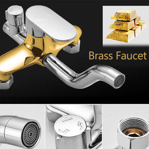 Image 3 - Hownifety Bathtub Faucets Luxury Chrome  Bathroom Faucet Mixer Tap Rainfall Hand Held Shower Head Kit Shower Faucet Sets