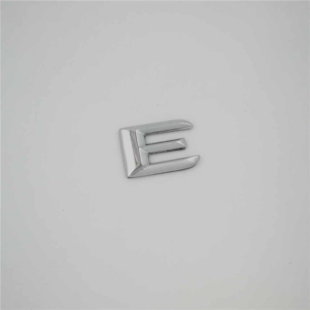Para mercedes benz classe e e180 e200 e220 e260 e320 e350 número letras cromo tronco traseiro emblema adesivo