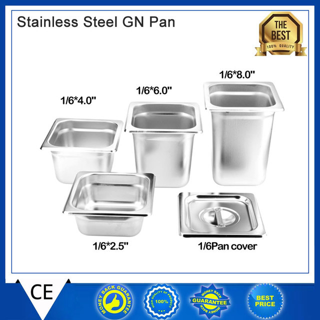 Kitchen Accessories 6pcs Lot 1 6 Gn Pan Stainless Steel