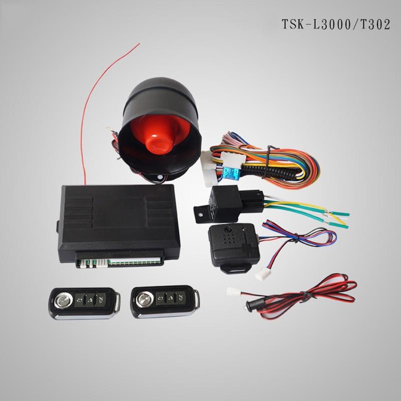 Car one - way sound and light alarm anti - theft alarm system anti - theft remote central control door lock alarme carro